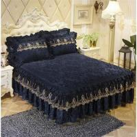 Buy cheap Luxury Lace Bedding Bed Skirt set Thick bed sheet Bedspread Bed Linen Princess Bedclothes bed cover King Queen size from wholesalers