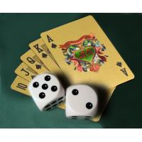 Buy cheap Lucky Gamble Gold Plated Playing Cards Full Printing Deck Gift Gold Plated Playing Cards from wholesalers