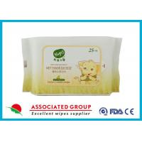 Buy cheap Resealable Soft Non - Allergic Nonwoven Spunlace Wet Wipes Baby 25 Sheets from wholesalers