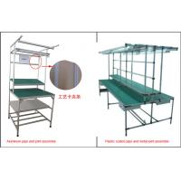 Buy cheap Lean Pipe Rack Workstation Industrial Workbench Aluminum Plastic Coated Metal Joint from wholesalers