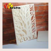 Buy cheap First communion invitation card ivory tree wedding invitation card with love letters from wholesalers