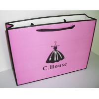 Buy cheap Art Paper Shopping Carrier Bags For Clothing / Shoes , Paper Merchandise Bags from wholesalers