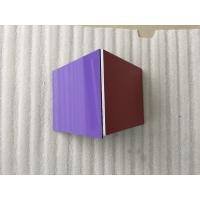 Buy cheap Silver / Purple ACP Aluminium Composite Panel Smooth Surface For Wall Decoration product