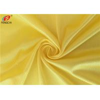 Buy cheap 100 % Polyester Dazzle Fabric Sportswear Jersey Tricot Knit Fabric In Yellow Color from wholesalers