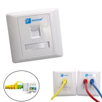 Buy cheap Wall Mount RJ45 Socket Single Port Keystone Faceplate 86*86mm from wholesalers