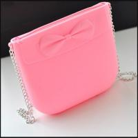 Buy cheap Silicon Zipper Shoulder Bag With Bowknot promotion gift from wholesalers