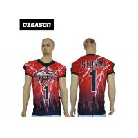 Buy cheap Wholesale 100% Ployester American football training jerseys Sublimation football jersey team numer uniform from wholesalers