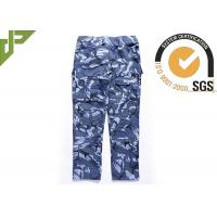 Buy cheap Ocean Military Style Cargo Pants , Polyester Cotton Combat Trousers With Knee Pads from wholesalers
