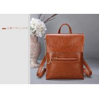 Buy cheap Fashion Oil Wax Leather Womens Backpack Bags , Ladies Multifunctional Shoulder Bag from wholesalers