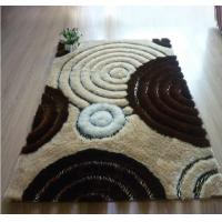 Buy cheap Circles Leather under Mixed with Polyester Silk Shaggy Carpet and Rug from wholesalers
