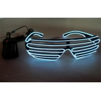 Buy cheap Shutter Shades White Color El Wire Sunglasses Controlled By 2 CR2032 Battery from wholesalers