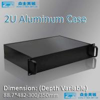 Buy cheap 2U/19 inch full aluminum case/19 inch 2U Rack mount chassis/89*483*free from wholesalers