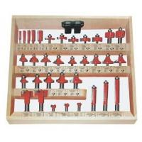 Buy cheap 45# carbon steel router bit sets with finished sandblast for woodworking from wholesalers