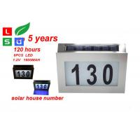 China Wall Mounted Solar Powered Signs 5050 SMD LED Solar House Number Light on sale