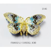 Buy cheap Custom metal butterfly shaped jewelry box for promotional gift from wholesalers