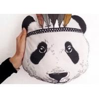 Buy cheap Panda Head Custom Plush Toys Soft Print Fabric Pillow Baby Bed Cushion For Children'S Gift from wholesalers