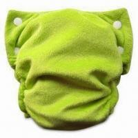 Buy cheap All In One Baby Cloth Diaper with Nappy, Reusable, Water-proof and Outer Shiny Velour's Fabric from wholesalers