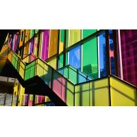 Buy cheap Multi Color Tinted Decorative Glass Panels Smooth / Textured For Walls , 3mm 4mm 5mm from wholesalers