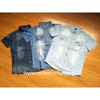 Buy cheap Men Cotton Fashion Casual Jeans Jacket & Dress Jeans Shirts from wholesalers