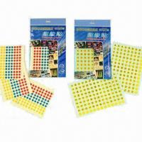 China Cute/Small/Colorful Stickers for Kids Education, with Dots, Numbers, Heart, Square and Round Shapes on sale