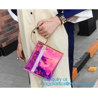 Buy cheap Personalized Womens Rainbow Color Shoulder Hand Bag PVC Clear Beach Bag, Handbag manufacturer China fashion ladies clear from wholesalers
