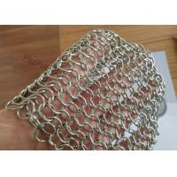 Buy cheap 1.2X10MM Fireplace Mesh Curtain , Metal Mesh Curtain Panels For Space Divider from wholesalers