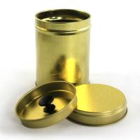 Buy cheap Round Tea Tin Container with Double Cover product