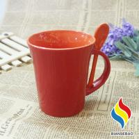Buy cheap 11 oz Temperature Control Color Changing Cup Ceramic Coffee Mug with Spoon And Holder from wholesalers