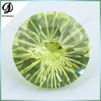Buy cheap 15mm fireworks cutting Loose Gemstone Wholesale Apple Green CZ from wholesalers