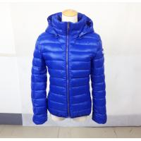 Buy cheap Zip-Up Puffy Jackets for Women , Blue puffer jacket  Multicolored  With Hood product
