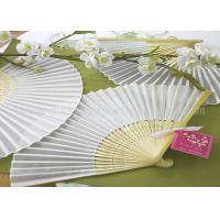 Buy cheap Solid Color Printed Bamboo Fabric Hand  Fan For Promotion , Gifts With Variety Colors product
