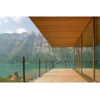 Buy cheap Simple Glass Seaside Balustrade Design/ Transparent Balcony Fences from wholesalers