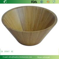 Buy cheap 2016 Round Shape High Capacity Organic Bamboo Wooden Vegetable Fruit Salad Bowl from wholesalers