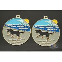 Buy cheap Round Shape Fun The Sun Run And Racing Metal Medal Shiny Gold Plating from wholesalers