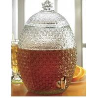 Buy cheap Large Pineapple Glass Kitchen Containers With Lids / Transparent Beer Glass Juice Jars from wholesalers