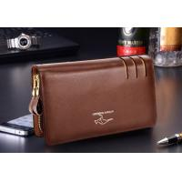 Buy cheap Genuine Leather Mens Wallet Card Holder Hand Clutches Bag from wholesalers