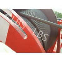 Buy cheap Heavy Duty Lebus Groove Drum Tower Crane Winch 100m - 10000m Rope Capacity product