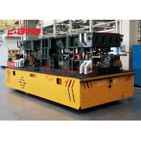 Buy cheap Auto Precast Concrete Floor Industrial Trolley Cart , 1-500 Tons Turning Battery trackless Transfer Trolley from wholesalers