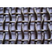 Buy cheap Architectual Decorative Metal Mesh Fence Panels  , Stainless Steel Woven Wire Mesh from wholesalers