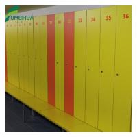 Buy cheap two tier compact laminate gym lockers with num lock from wholesalers