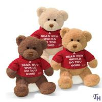 Buy cheap Personalized Plush Toys Three Brown Family Teddy Bear With T shirt from wholesalers