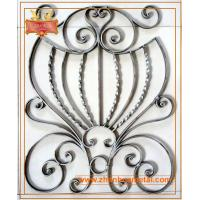 China wrought iron panel,forged ornamental steel panel,welded rosettes for garden fence and gate on sale
