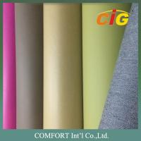 Quality 140 Cm Width Popular Colorful PU Synthetic Leather for Sofa , Classic Design for sale