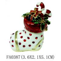 Buy cheap Christmas Shoes Pewter Jewelry Box from wholesalers