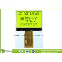 Buy cheap Monochrome 128x64 COG LCD Module STN Yellow / Green Positive 0.29 * 0.36 Dot Pitch from wholesalers