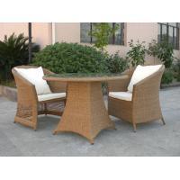 Outdoor Rattan Furniture Sofa Chair Set For Garden / Patio Brown