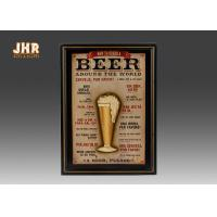 Buy cheap Beige Wood Wall Art Sign Pub Wall Decor Decorative Beer Wall Plaques Home Decorations from wholesalers