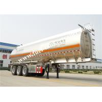 Buy cheap Tri- Axle Fuel Tanker Trailer , 3 Axle Oil / Fuel Tank Trailer For Chemical Liquid from wholesalers