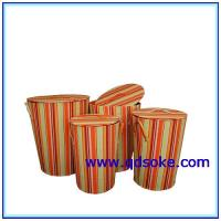 Buy cheap Paper Laundry Basket Paper Storage Bucket with Lid from wholesalers