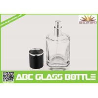 Buy cheap High Quality Custom Glass Perfume Bottle 50ml With Black Cap Clear Color from wholesalers